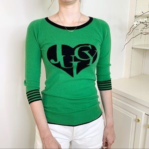 Juicy Couture Cashmere Blend Logo Heart Sweater XS